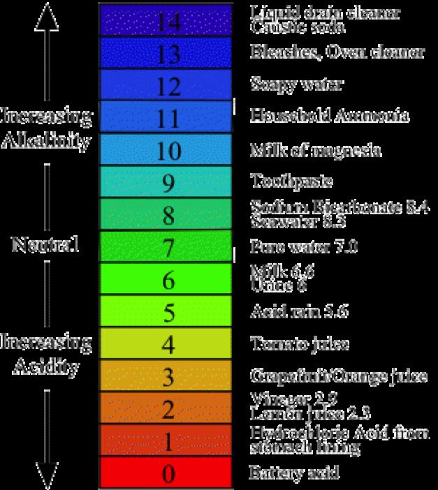 pH scale1 Coffee With Low Acid Acid Alkaline Food Chart